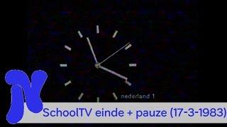 SchoolTV - Afkondiging Jantine de Jonge, eindleader en pauze (17-3-1983)