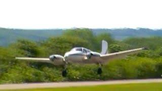 Beech Twin Bonanza Taxi & Takeoff