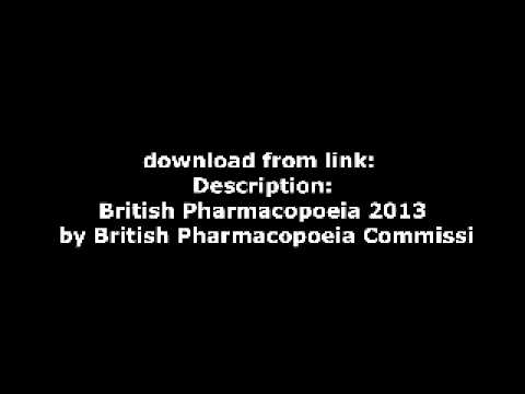 British Pharmacopoeia 2013 by British Pharmacopoeia Commissi
