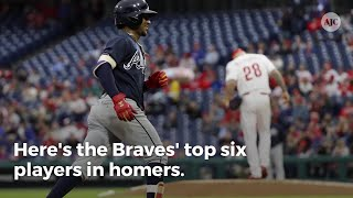 Who leads the Braves in home runs?