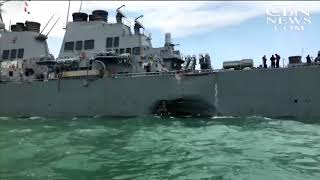 Search Continues for Missing Sailors from USS John S. McCain Following Tanker Collision