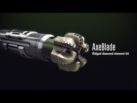 AxeBlade Ridged Diamond Element Bit