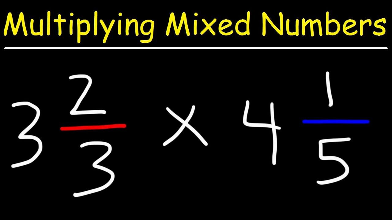 Video - Multiplying Mixed Numbers and Fractions Video ...