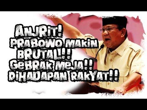 Anjrit!!! Prabowo Makin    Gebrak Podium Sampai Rusak