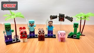 LEGO Minecraft My World spider, pig, cow, creeper, zombi - brick toy for kid
