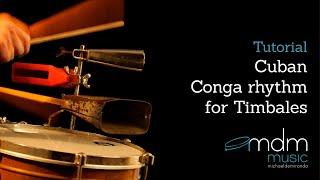 Cuban conga rhythm for timbales, free lesson