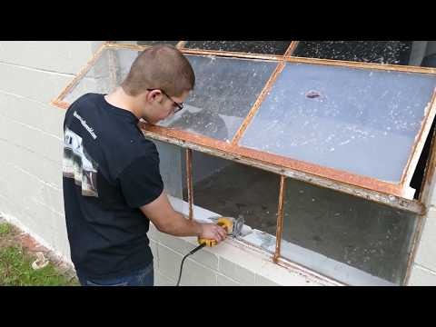 DIY HOW TO Remove Metal Windows - Mountain Remodel S2 Episode 8