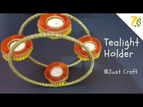 DIY Tealight Holder | Homemade / Handmade Candle Stand | Just Craft