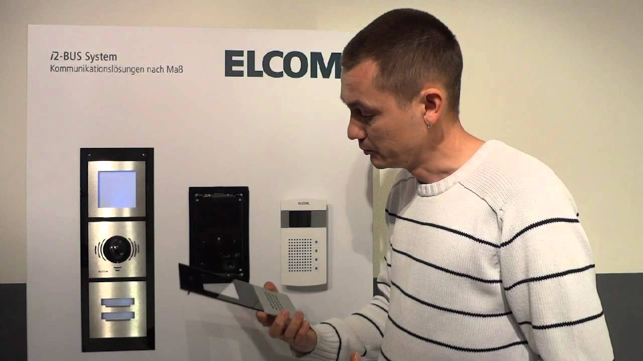 video türsprechanlage funktion und design von elcom - youtube