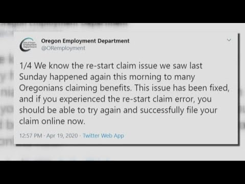 Struggle to apply for unemployment benefits in Oregon