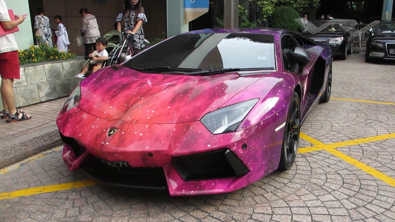 Galaxy Wrap Aventador Youtube