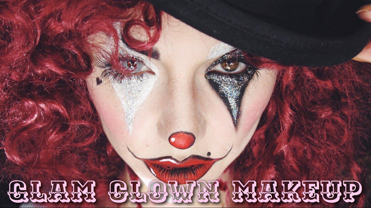 Glam Clown Makeup Corto Halloween 2016 Dirty Closet Youtube