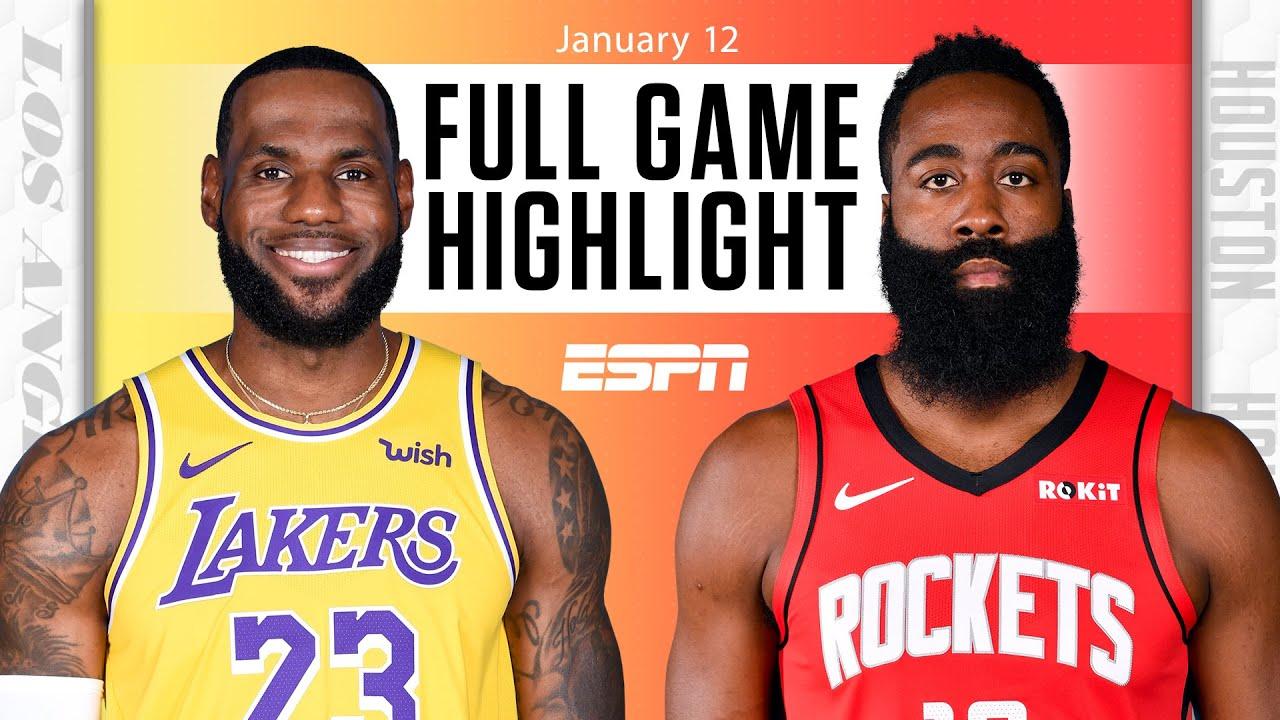 Lakers vs. Rockets - Game Recap - January 12, 2021 - ESPN
