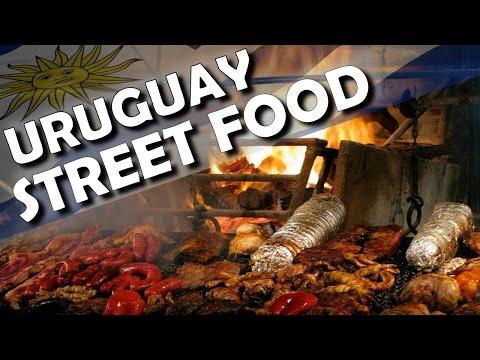 Street food in uruguay - parrilla uruguaya gourmet - how to cook a parrija asado
