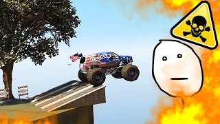 CRAZIEST MONSTER TRUCK CHALLENGE ( GTA 5 Funny Moments )