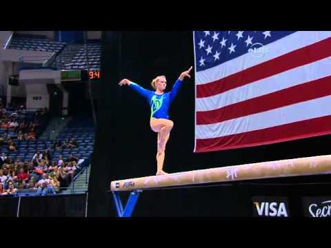 Bridget Sloan has rough return on Beam - from Universal Sports