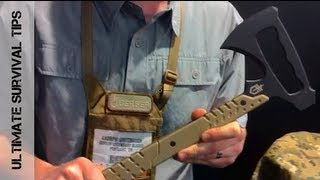 """First Look"" - Gerber DownRange Tactical / Survival Tomahawk - SHOT Show 2013"