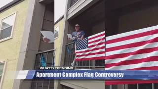 What's Trending: Man fights to keep American flag up on apartment railing