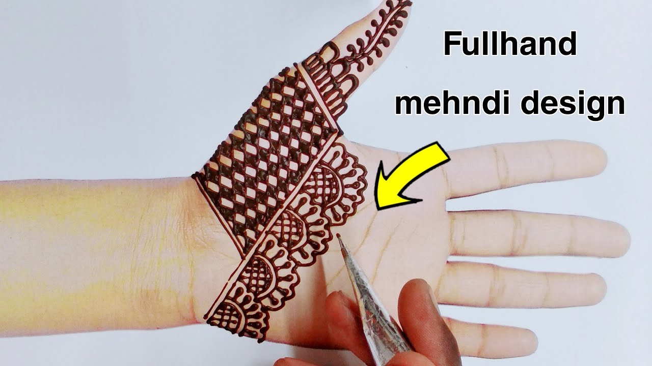 simple and easy fullhand mehndi design||mehndi designs for beginners #1