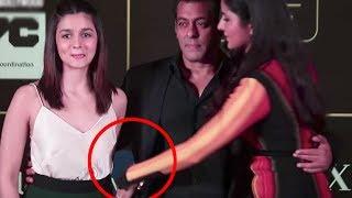 Possesive Katrina Kaif Doesn't Let Alia Bhatt Touch Salman Khan At The IIFA Press Conference
