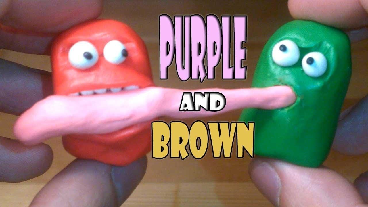 Лепим фигурки Пурпурный и Коричневый. Purple and Brown