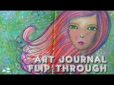 Studio Time 13 - Art journal flip through!