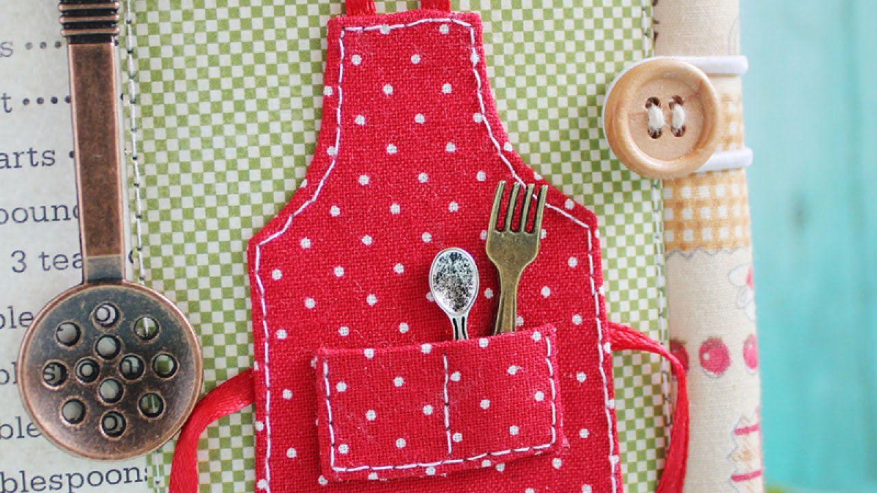 make a cute cookbook apron diy crafts guidecentral youtube