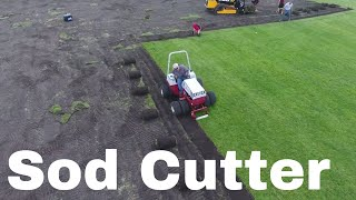 Removing Sod from Practice Field - Ventrac Sod Cutter