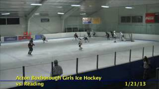 Acton Boxborough Varsity Girls Hockey vs Reading 1/21/13