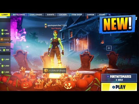 *NEW* FORTNITEMARES EVENT GAMEPLAY in Fortnite! NEW Skins + Weapons! (Fortnite Battle Royale) thumbnail