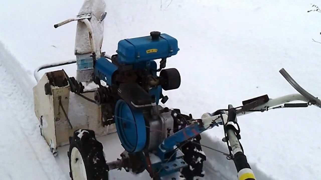 Снегоуборщик на неву мотоблок своими руками