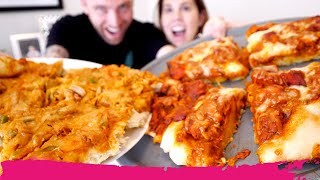 Baking INDIAN PIZZAS at Home! Butter Chicken Curry & Spicy Chicken Curry Pizza   Miami, Florida