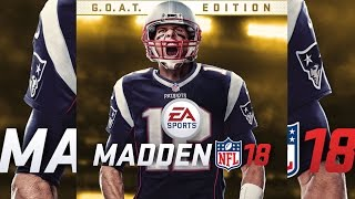 Tom Brady on Madden 18 Cover