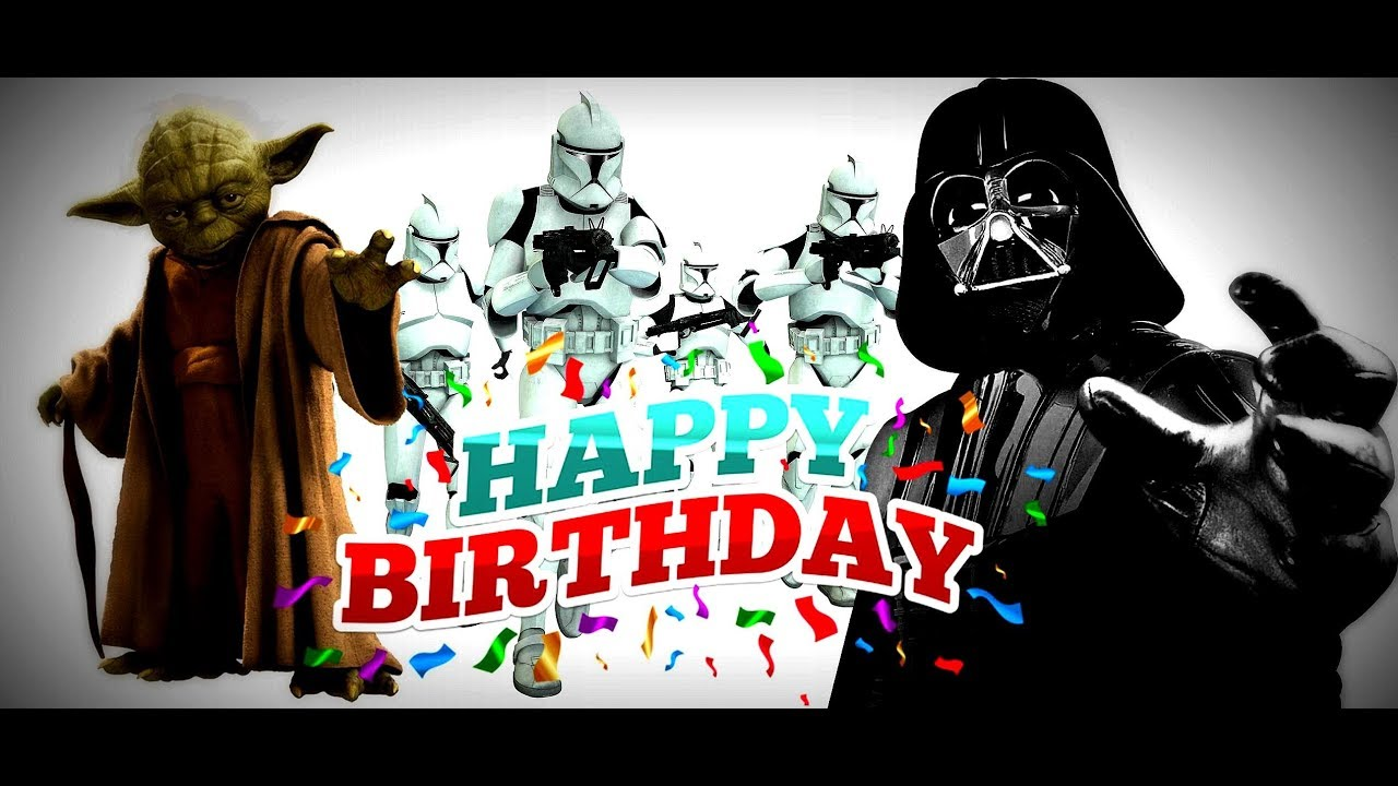 Happy Birthday From Star Wars The Force Awakens By Yoda Youtube
