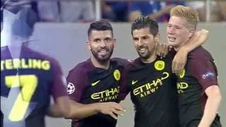 Стяуа - Манчестер Сити ВСЕ ГОЛЫ 0-5 Хет трик АГУЭРО