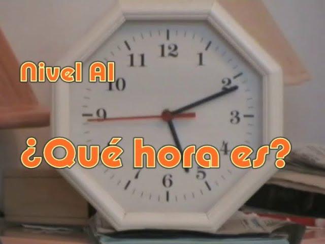 ¿Qué hora es?: Dar la hora