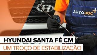 Como mudar Suporte de motor HYUNDAI SANTA FÉ II (CM) - vídeo grátis online