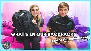 WHAT'S IN OUR BACKPACKS - END OF THE SCHOOL YEAR 2019!