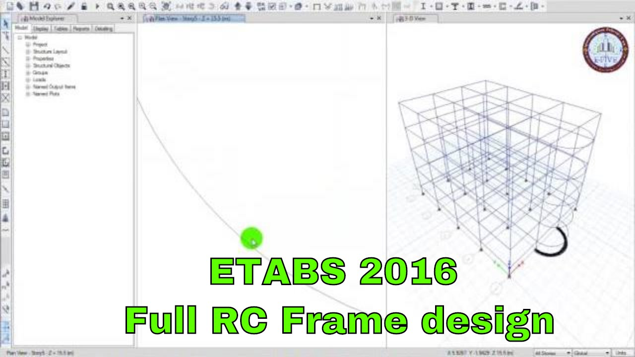 Etabs 2016 Full Reinforcement Concrete Frame Design Basic Load Youtube