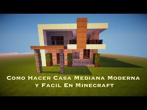 Como hacer una linda casa moderna en minecraft pt1 doovi for Casa moderna minecraft paso a paso