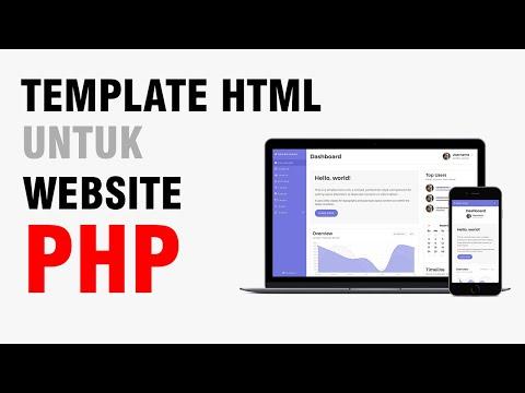 Cara Menggunakan Template Pada Website PHP