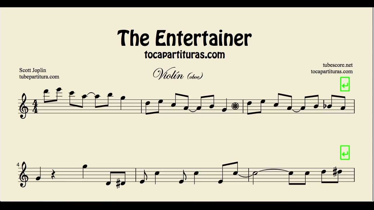 The Entertainer Easy Sheet Music For Violin And Oboe Youtube