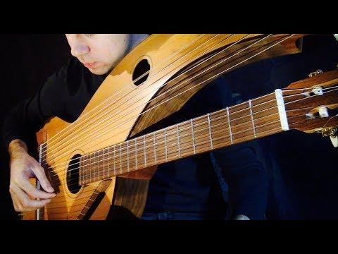 Harry Potter (Hedwig's) Theme - 18 String Harp Guitar - Jamie Dupuis