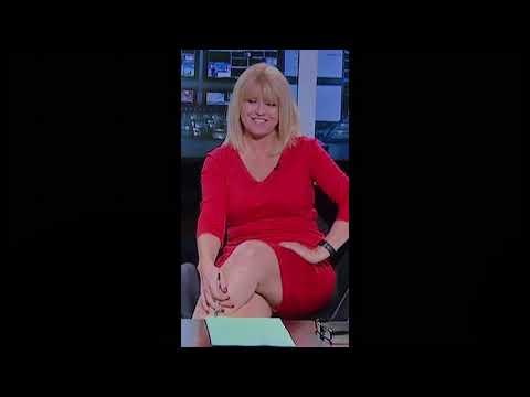 Christine Talbot sexy tight red dress legs thighs