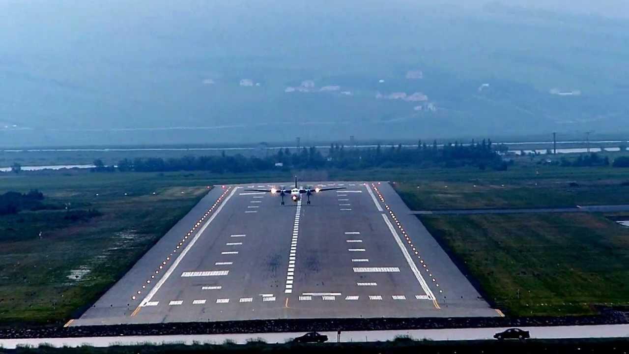 Departure from Akureyri (BIAR) airport as seen from Cunard ...