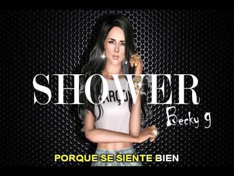 Shower - Becky G - spanglish karaoke con letra - CANTO TAC
