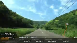 16倍速宮崎空港から都井岬20170602