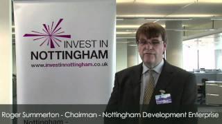 Roger Summerton, Chair of Nottingham Development Enterprise
