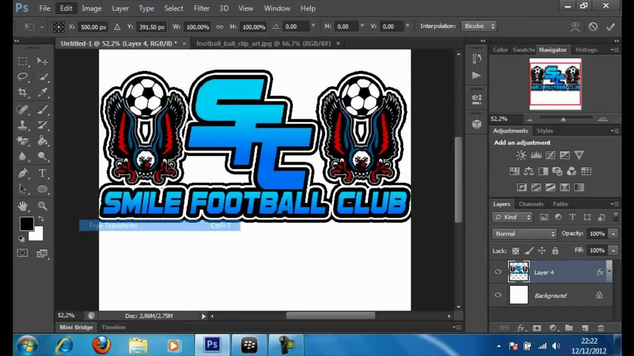 creer un logo de foot