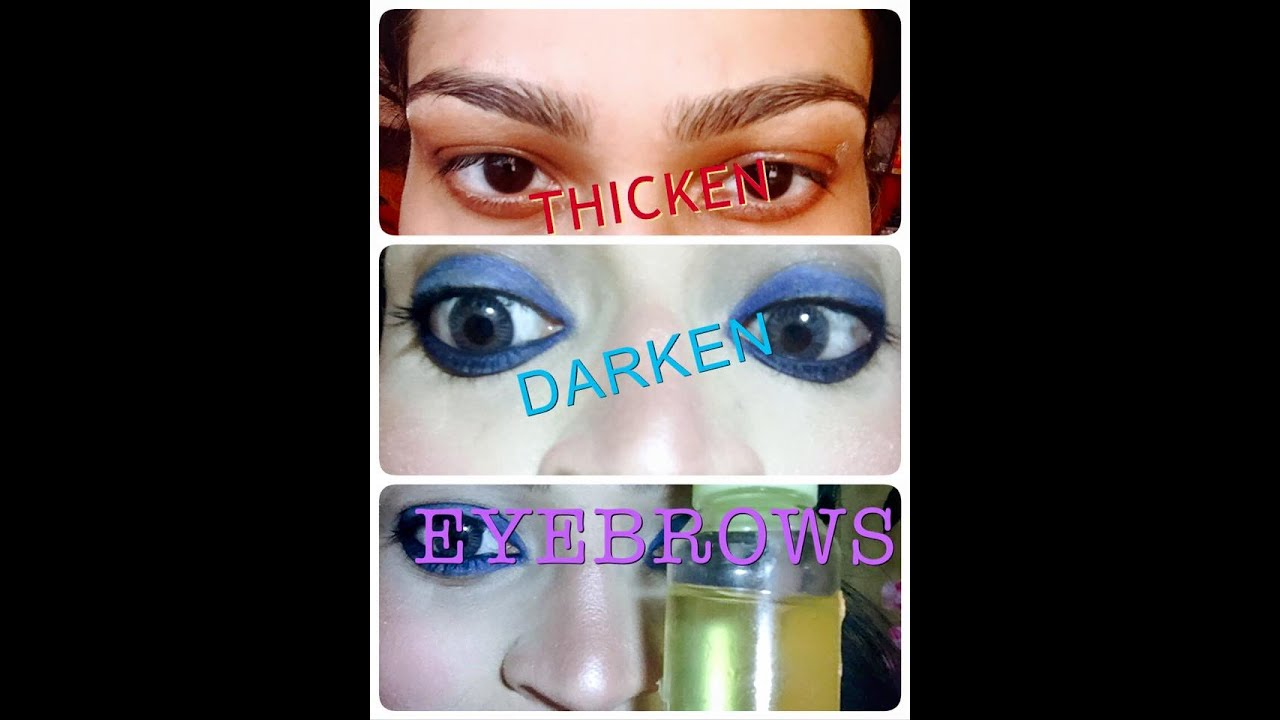 Thicken And Darken Your Eyebrows With Castor And Rosemary Oil Youtube